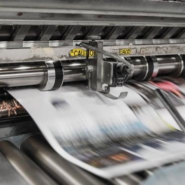 Flexo printing press (newspaper)