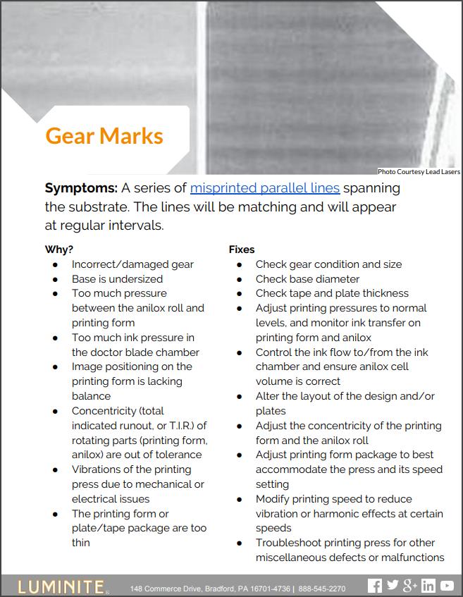 gear marks flexo printing